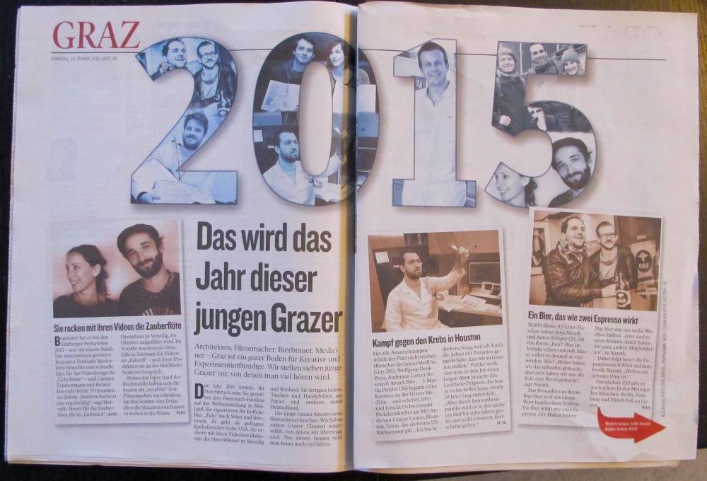 Kleine Zeitung Steiermark / Vorankündigung 2015 / rocafilm